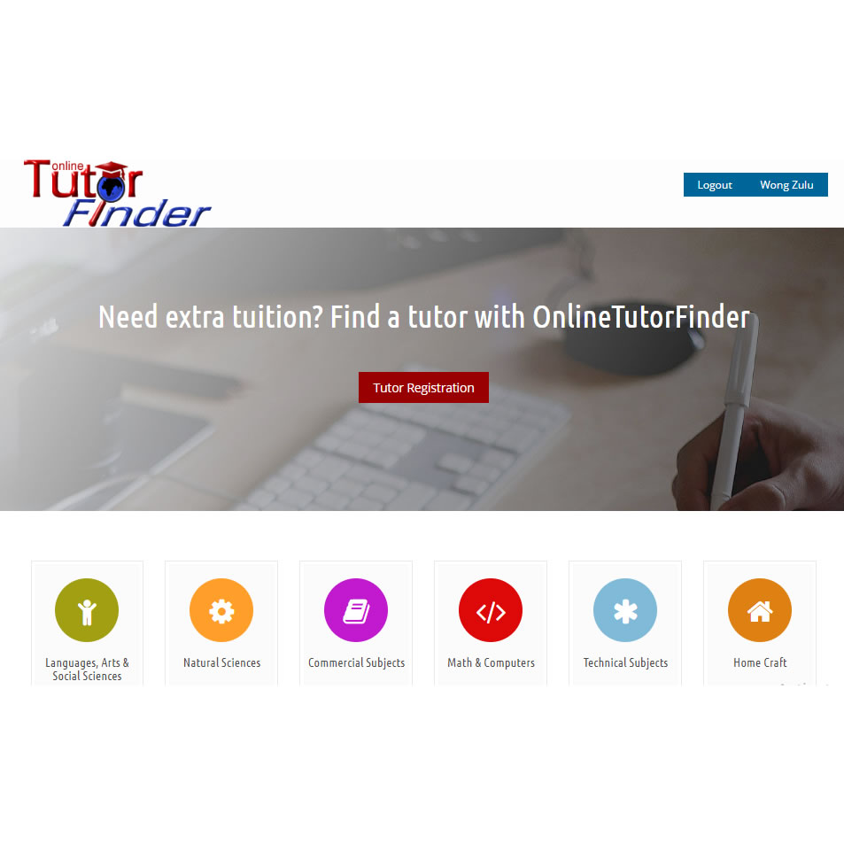 Web development and hosting, and domain administration for Online Tutor Finder, Lusaka, Zambia